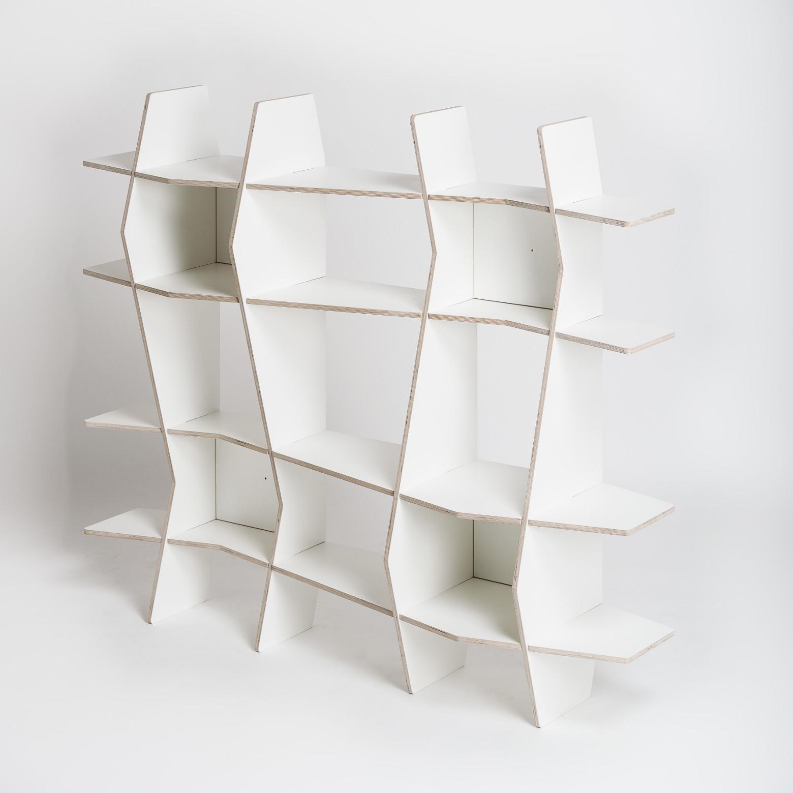 Design Regale | Design Regal Wav In Holz Weiss Radis