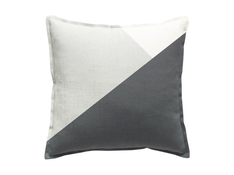 leinen dekokissen in grau wei online kaufen. Black Bedroom Furniture Sets. Home Design Ideas