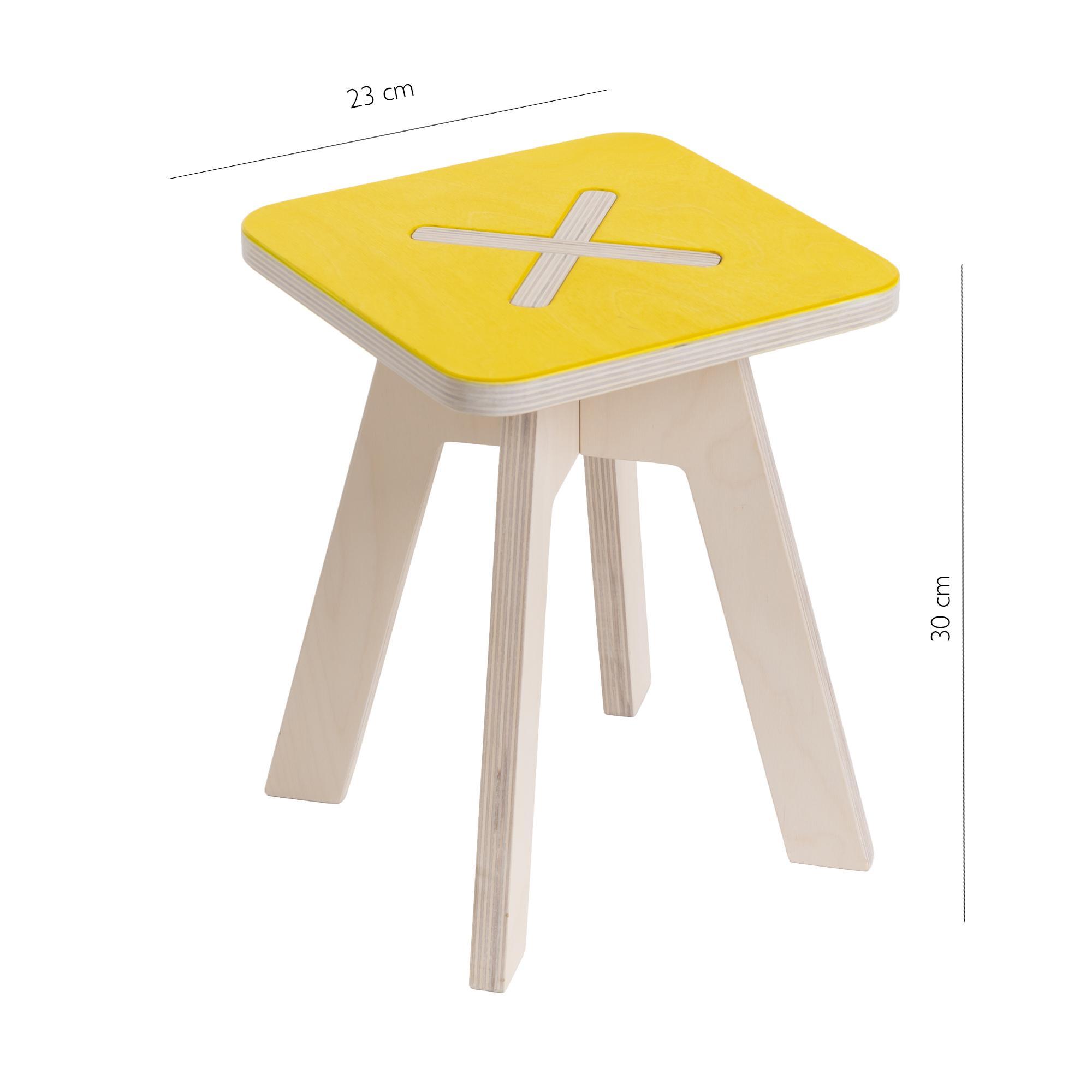 Kinderstuhl aus holz gelb - Moderne kinderzimmermobel ...